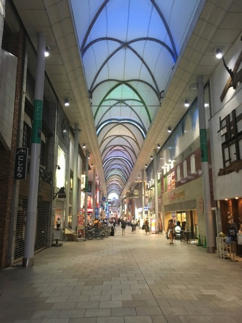 Shopping area in Japan
