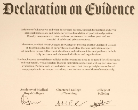 Declaration of evidence